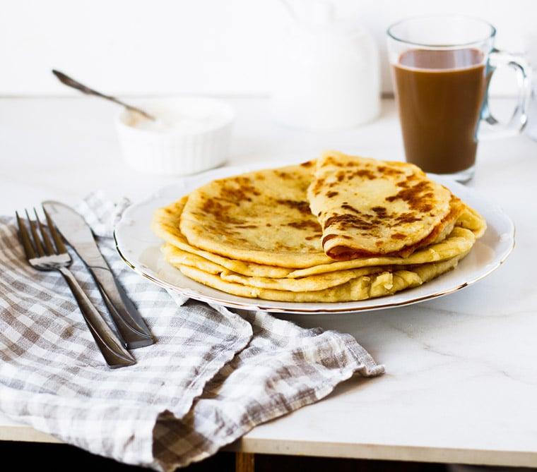 Traditional lefse, the Norwegian pancake