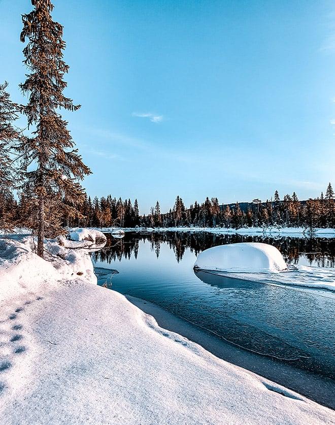 Winter scene in Lillehammer, Norway
