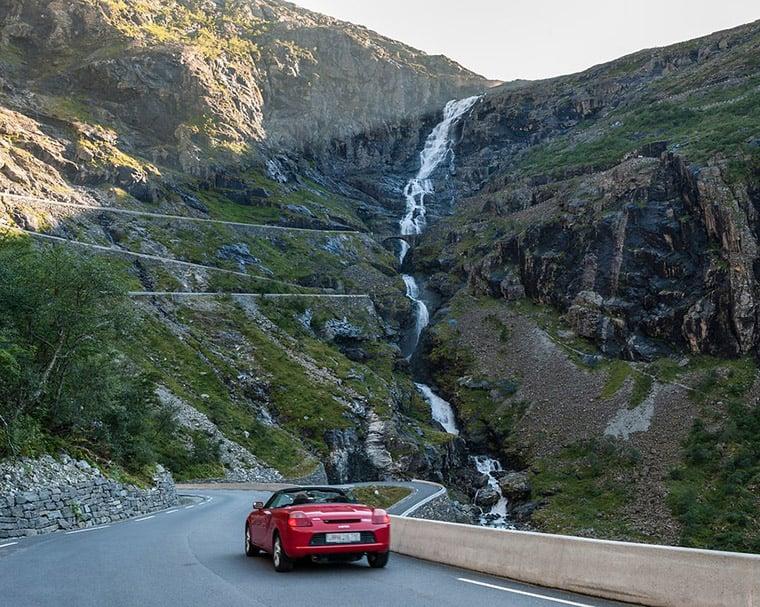 Approaching the Trollstigen mountain pass in western Norway