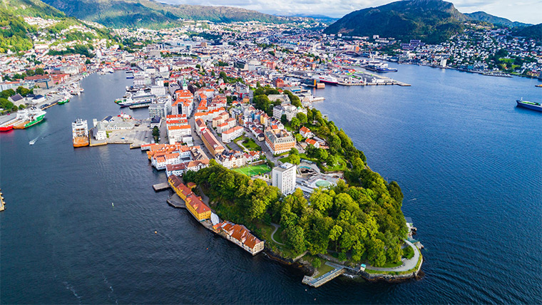 Bergen seen from the water