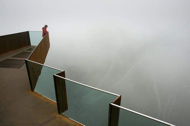 Foggy conditions at Trollstigen in Norway