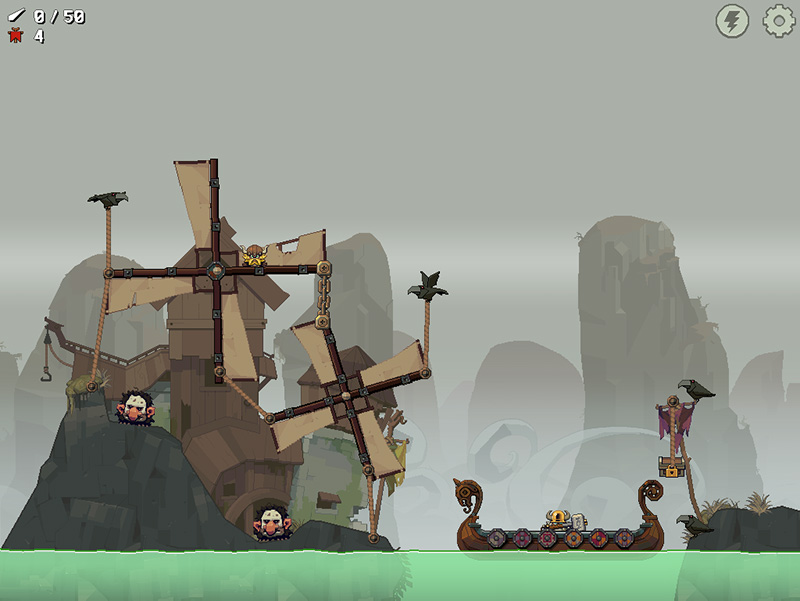 A screenshot of the video game Icebreaker: A Viking Voyage