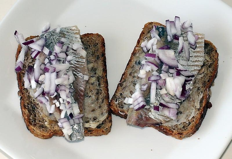 salted herring fillet