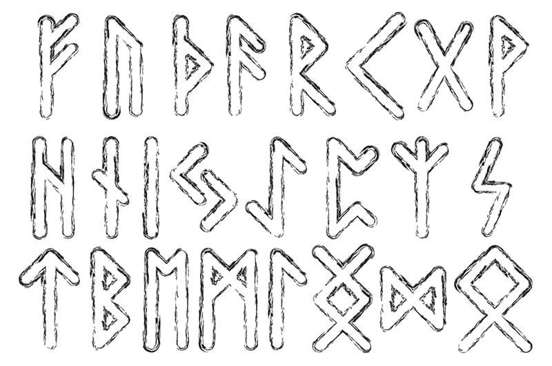 Sample runic alphabet