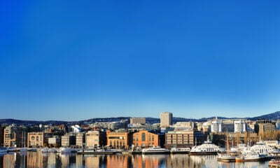 Summer weather in Oslo along the waterfront
