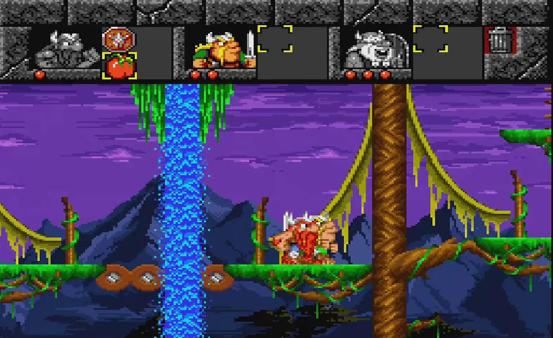 A screenshot of the SNES video game The Lost Vikings