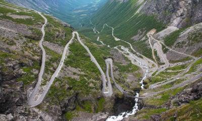 The Trollstigen mountain pass in western Norway