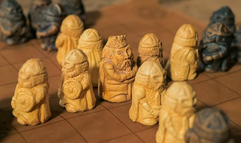 A modern interpretation of a Viking tafl strategy game