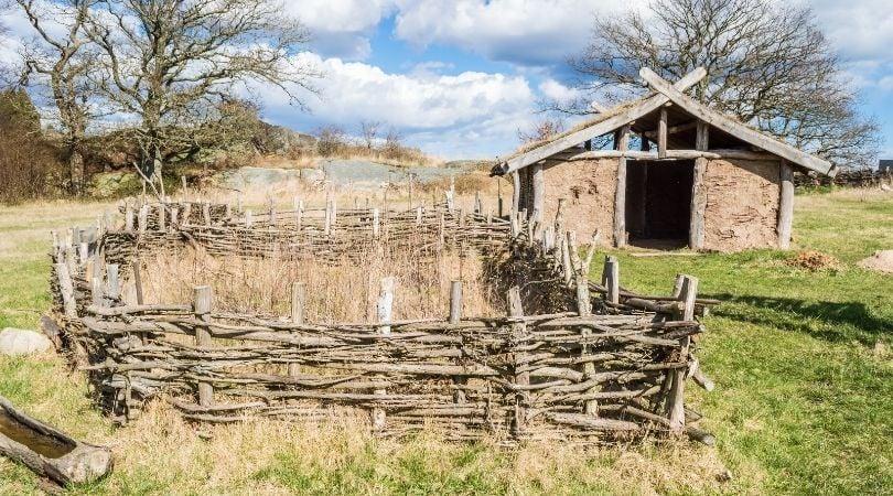 Historic Viking farm in Scandinavia