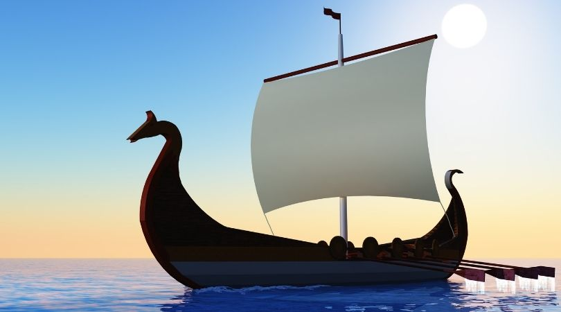 A viking trading vessel was an important part of the Viking economy
