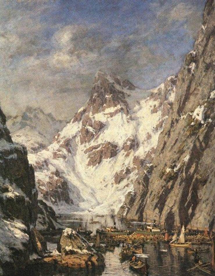 'The Battle at Trollfjord' by Gunnar Berg