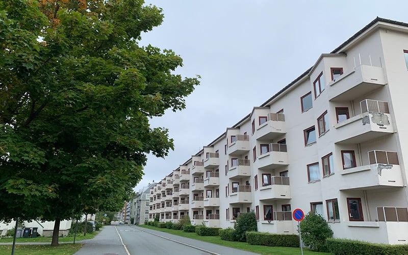 An apartment block borettslag in Trondheim, Norway
