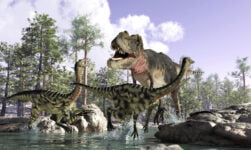An illustration of how dinosaurs in Scandinavia may have looked