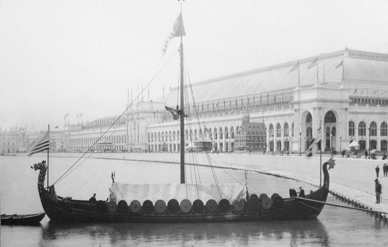 Gokstad ship replica Viking at the World's Columbian Exposition Chicago in 1893