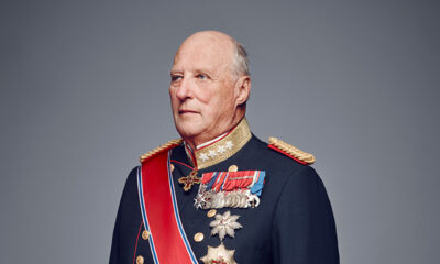 A portrait photo of the King of Norway