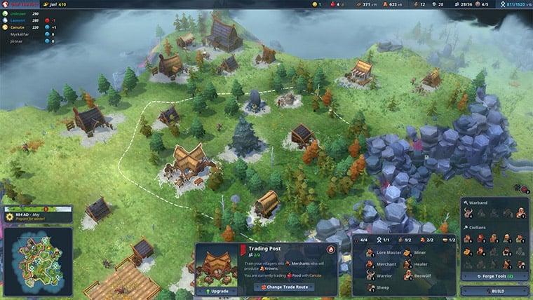A screenshot of Northgard