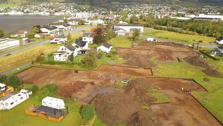 The excavation site in Ørsta, Norway