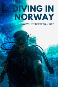 Diving in Norway pin