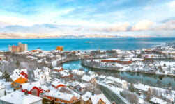 Trondheim winter panorama
