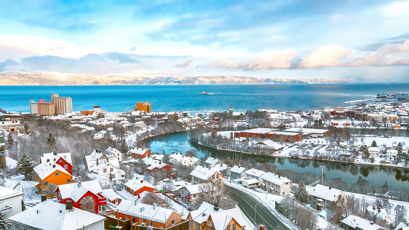 Trondheim winter panorama