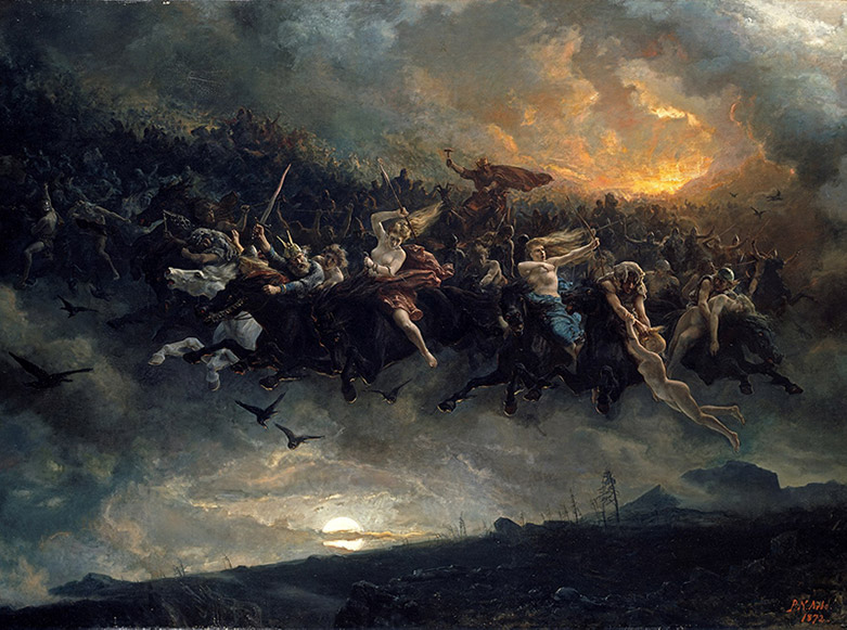 The Wild Hunt by Peter Nicolai Arbo