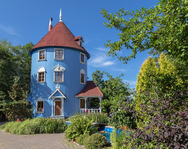Blue Moomin House in Finland
