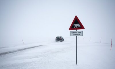 Driving on the Svalbard archipelago