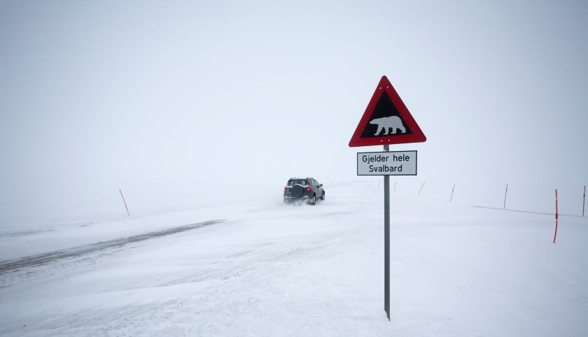 Driving on the Svalbard archipelago