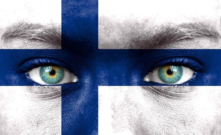 Finland flag eyes