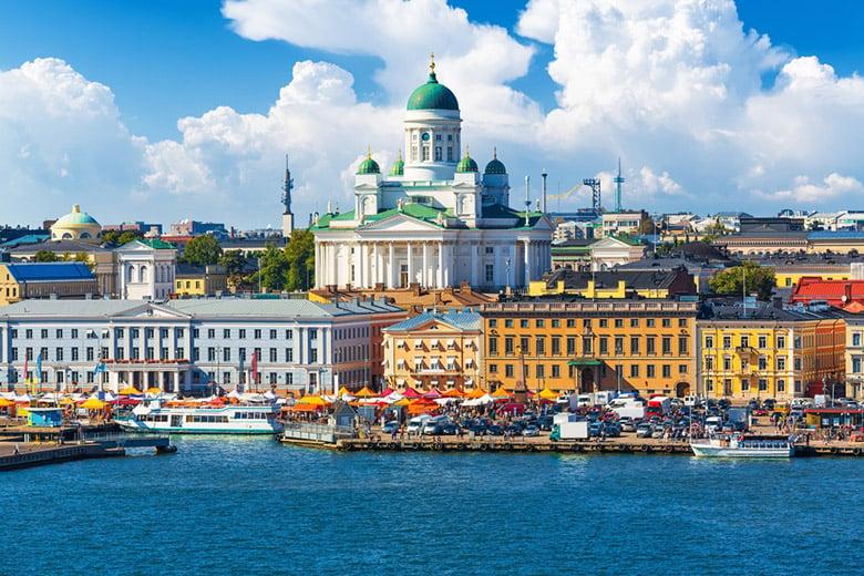 Helsinki city scene