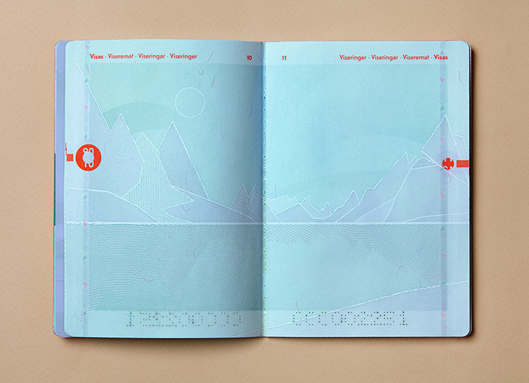 Interior pages of the passport of Norway