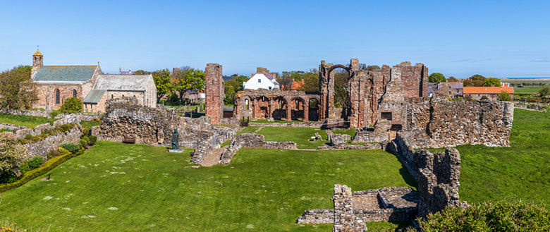 The priory ruins at Lindisfarne