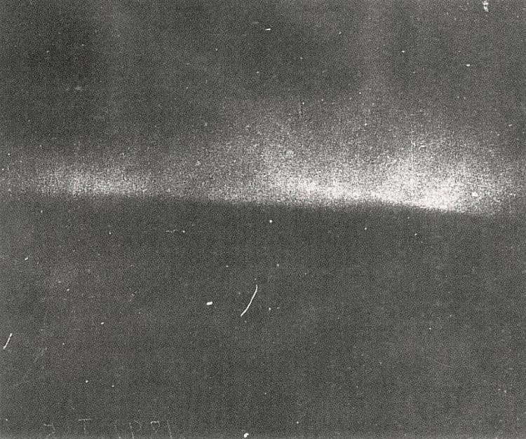 The first known photo of the northern lights