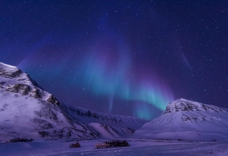 Northern lights above Spitsbergen