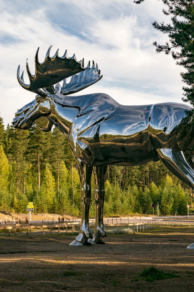 Norway moose statue in Stor-Elvdal