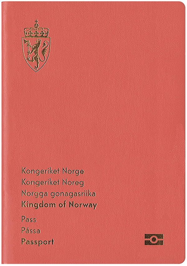 Front page of the new Norwegian passport