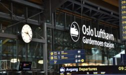 Oslo Airport railway station signage