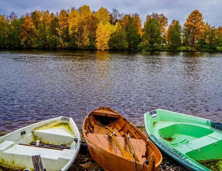 A lake in Oulu, Finland