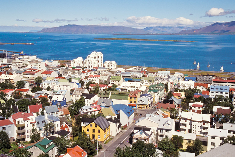 The skyline of Reykjavik, Iceland