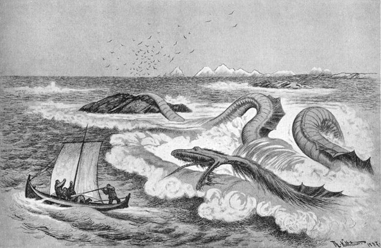 Norwegian sea serpent illustration