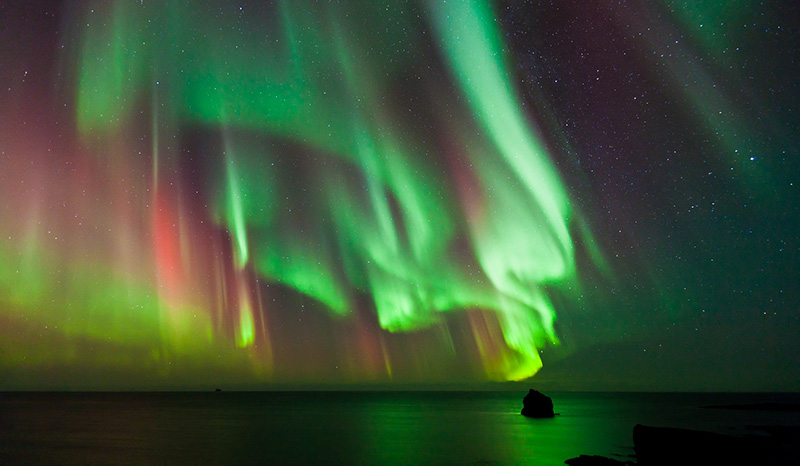 A spectacular northern lights display in Norway