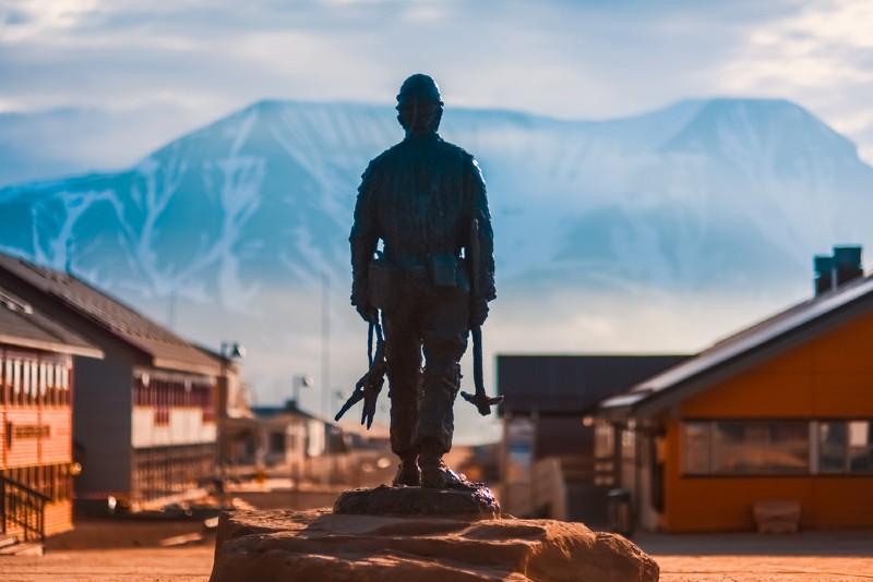 Statue in Longyearbyen, Svalbard