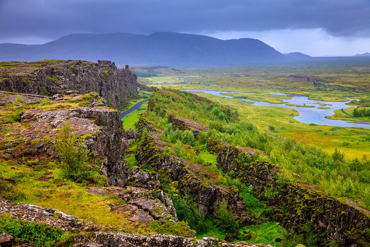Thingvellir National Park in southern Iceland