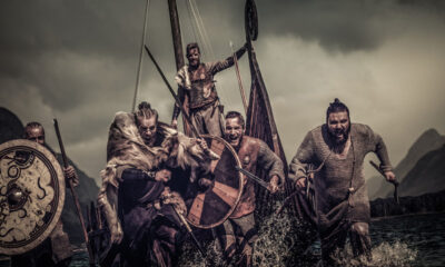 Viking raiders at Lindisfarne