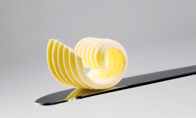 Norwegian butter on a knife