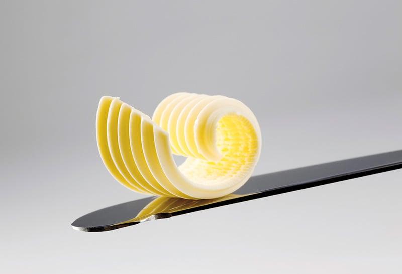 Norwegian butter on a knife