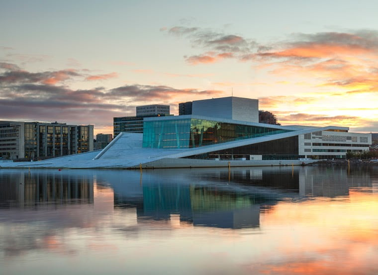 Oslo opera house skyline