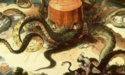 Standard Oil octopus cartoon