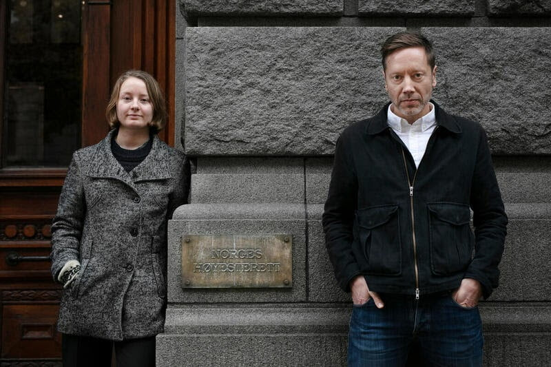 Therese Hugstmyr Woie, leader in Young Friends of the Earth Norway, and Frode Pleym, Head of Greenpeace Norway.