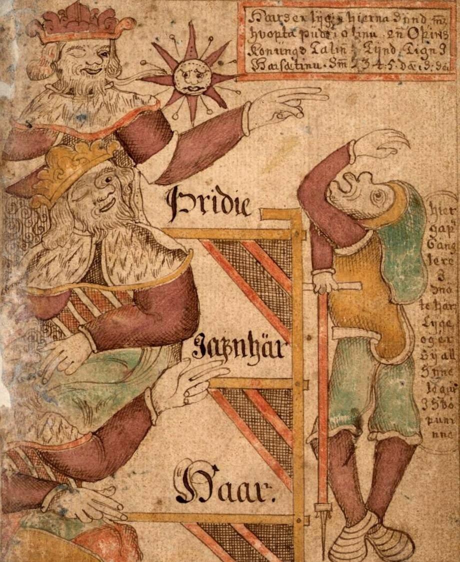 Illustration from Icelandic manuscript Manuscript Gylfi 1